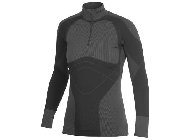 Craft Warm Zip Mockneck Women Langarm-Shirt - L schwarz