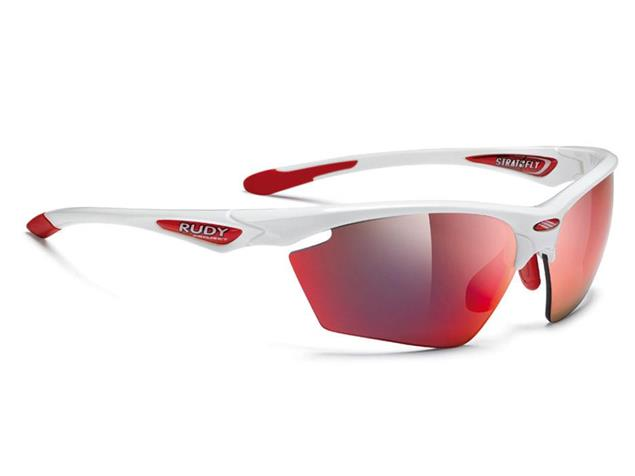 Rudy Project Stratofly Brille white gloss/multilaser red