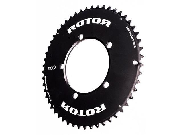 Rotor No-Q Aero Kettenblatt 52 Zähne schwarz 110er Lochkreis