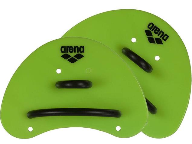 Arena Elite Finger-Paddles - acid lime