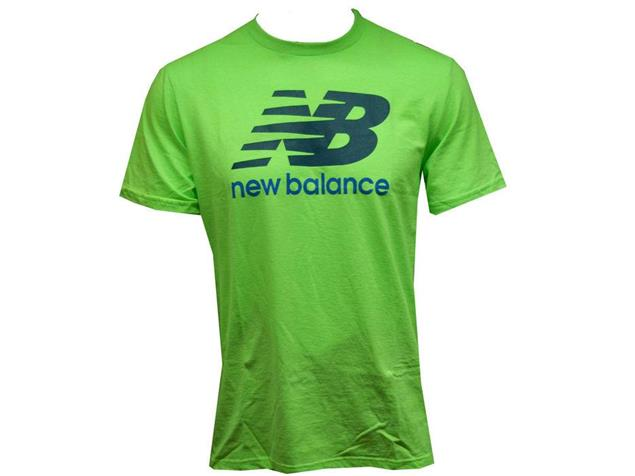 New Balance Logo T-Shirt - L green gecko