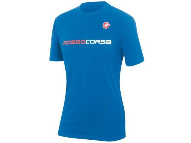 Castelli Rosso Corsa T-Shirt - L blue