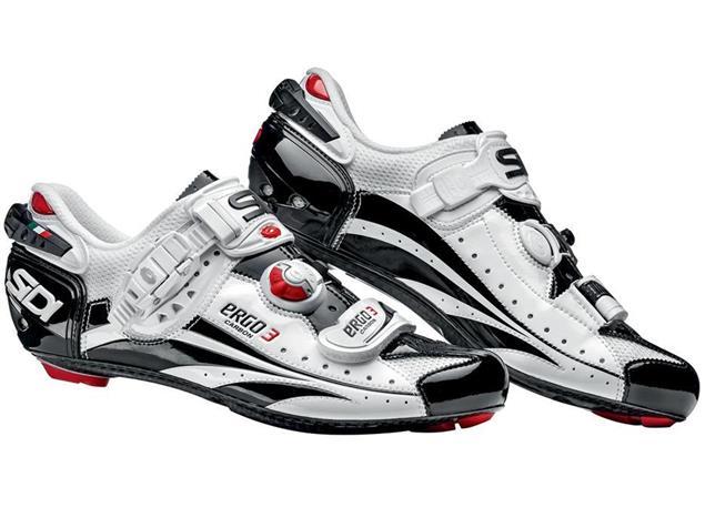 SIDI Ergo 3 Carbon Vernice Rennrad Schuh weiss/schwarz - 44