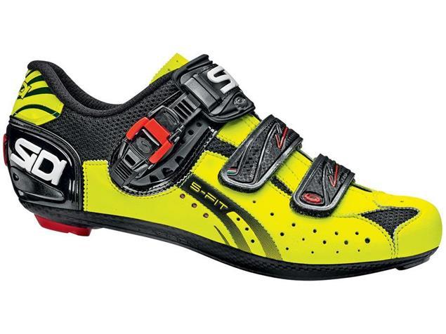 SIDI Genius 5 Fit Carbon Rennrad Schuh schwarz/neongelb - 48