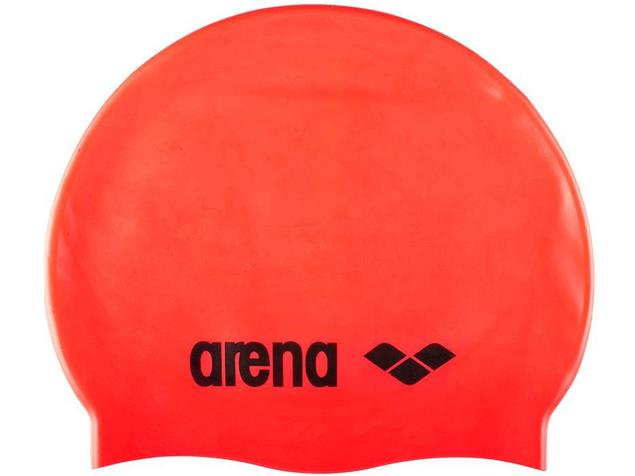 Arena Classic Silikon Badekappe - fluo red