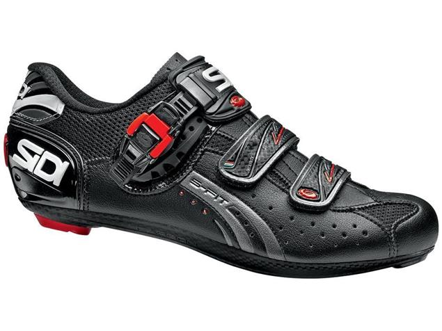 SIDI Genius 5 Fit Carbon Rennrad Schuh schwarz/schwarz - 46
