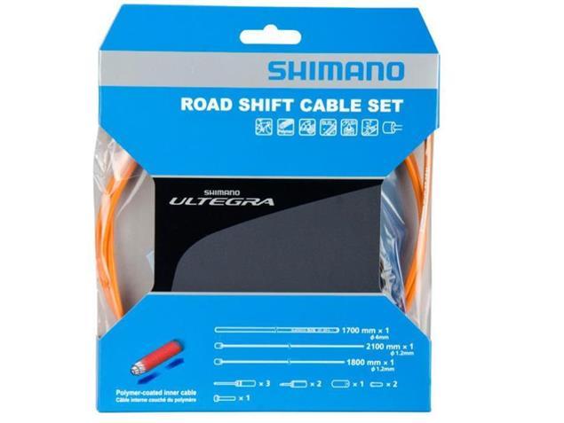 Shimano Ultegra Polymer Schaltkabel-Set - orange
