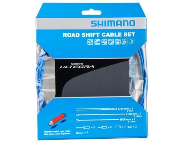 Shimano Ultegra Polymer Schaltkabel-Set - blau
