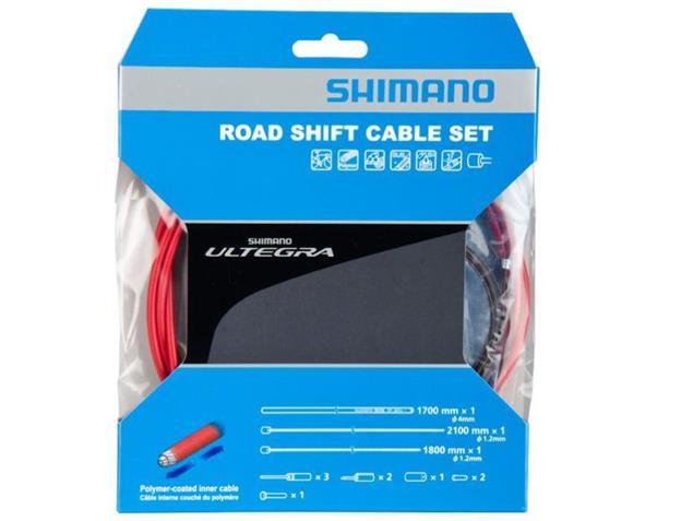 Shimano Ultegra Polymer Schaltkabel-Set - rot
