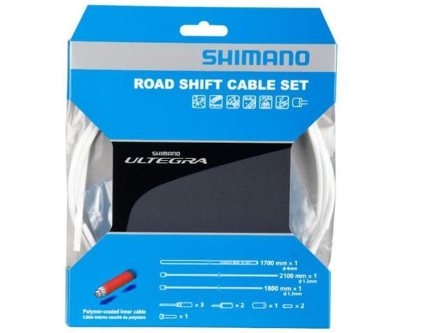 Shimano Ultegra Polymer Schaltkabel-Set - weiss
