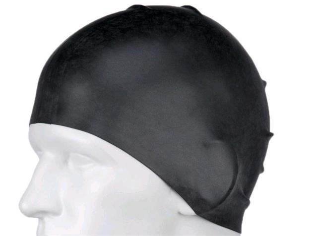 Speedo Long Hair Silikon Badekappe - black