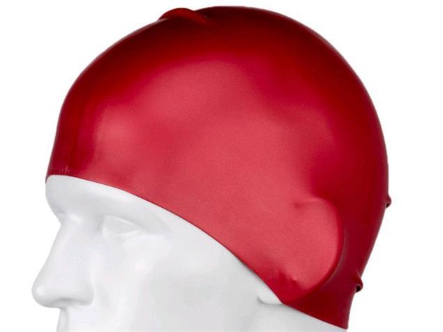 Speedo Long Hair Silikon Badekappe - red