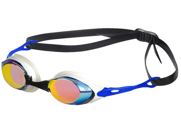 Arena Cobra Mirror Schwimmbrille 92354 - blue/orange/blue