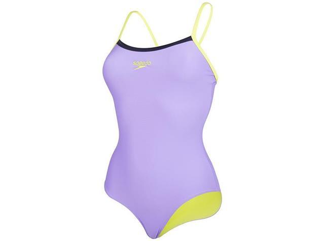 Speedo Thinstrap Muscleback Badeanzug Endurance10 - 36 african violet/lime/navy