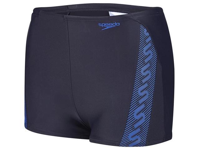Speedo Monogram Aquashort Jungen Badehose Endurance10 - 140 navy/beautiful blue