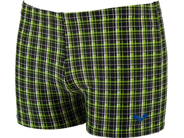 Arena Printed Check Badehose - 6 black