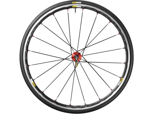 Mavic Ksyrium Elite 25 Laufradsatz rot - Campa Drahtreifen
