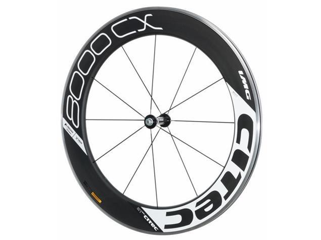 Citec 8000 CX Carbon Vorderrad 12 Speichen - weiss/schwarz