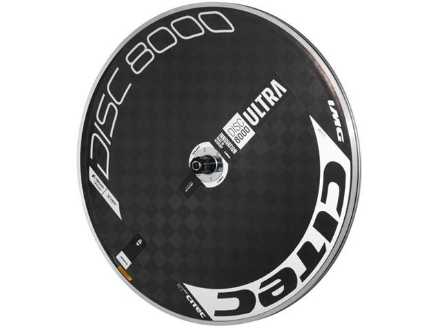 Citec Disc 8000 Ultra Scheibenrad - Shimano Drahtreifen weiß/schwarz/rot