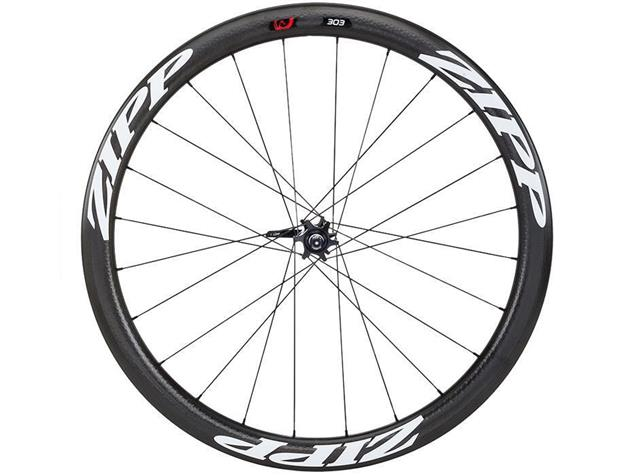 Zipp 303 Firecrest Disc Carbon Clincher Laufradsatz - Shimano Drahtreifen weiss
