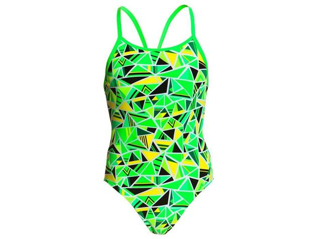 Funkita Fluro Fracture Girls Badeanzug Diamond Back - 176 (14)