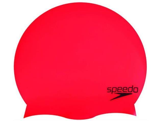 Speedo Plain Moulded Silikon Badekappe - siren/black