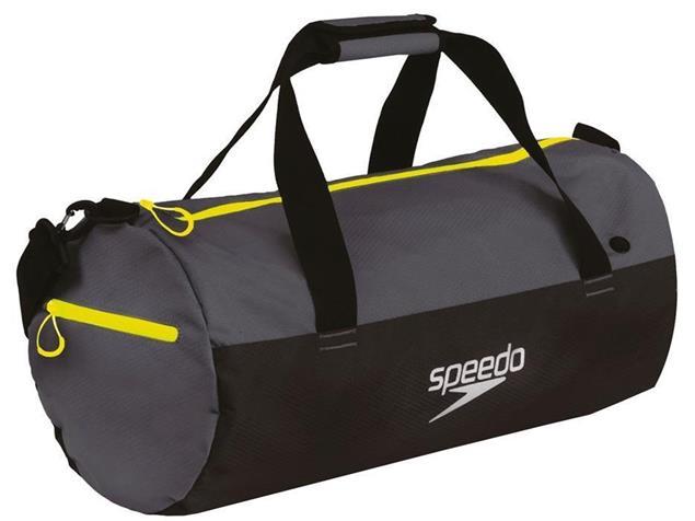 Speedo Duffel Bag Tasche 30 Liter - oxid grey/black/fluo yellow