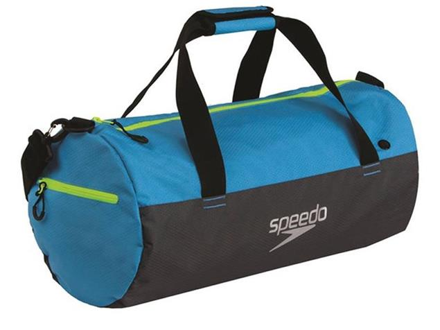 Speedo Duffel Bag Tasche 30 Liter - japan blue/grey/fluo yellow