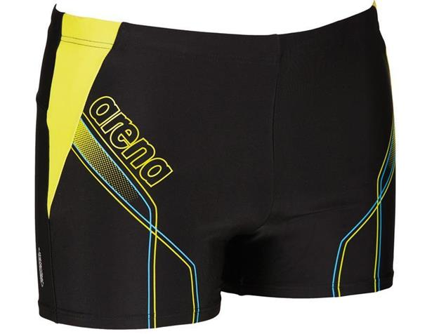 Arena Cruzeiro Short Badehose - 6 black/turquoise/soft green