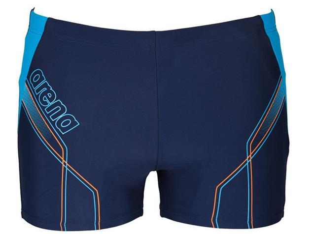 Arena Cruzeiro Short Badehose - 6 navy/turquoise/soft orange