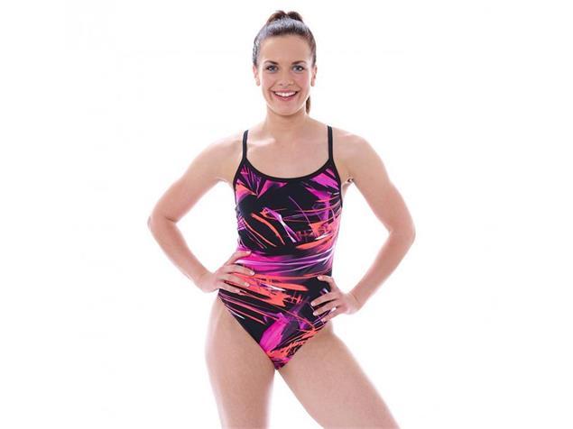 Zoggs Aurora Badeanzug Sprintback - 38 pink/multi