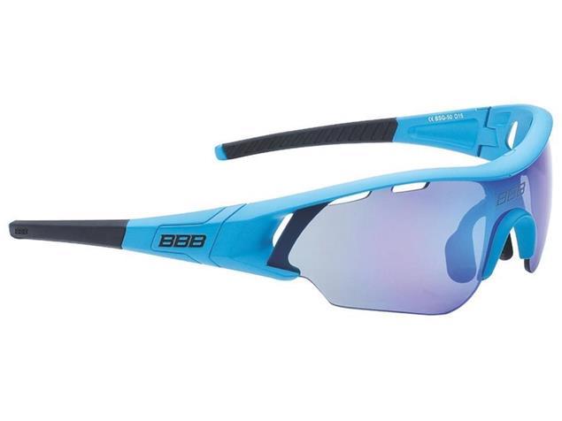 BBB Summit BSG-50 Sonnenbrille mit 3 Gläsern - mattblau