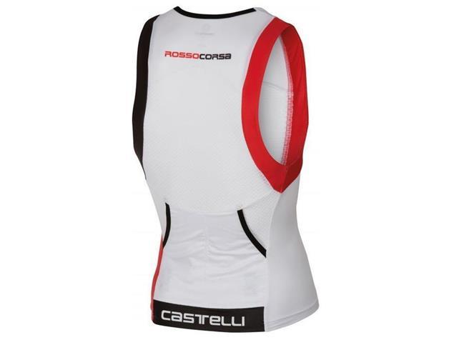 Castelli Free Tri Top - M white/red