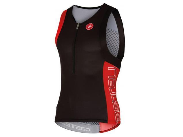 Castelli Free Tri Top - M black/red