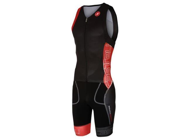 Castelli Free Sanremo Tri Suit SL Einteiler - M black/red