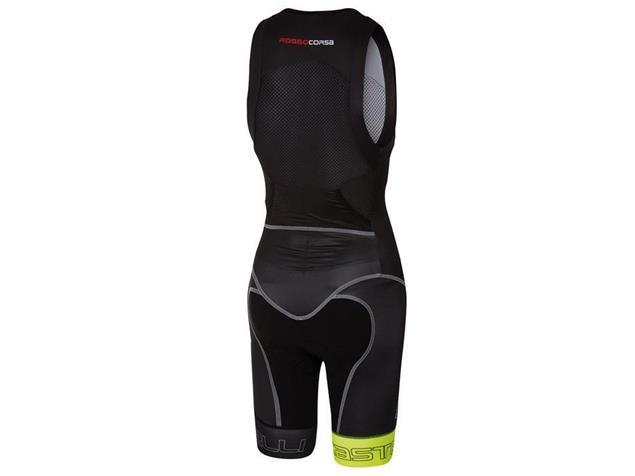 Castelli Free Sanremo Tri Suit SL Einteiler - XL black/yellow fluo