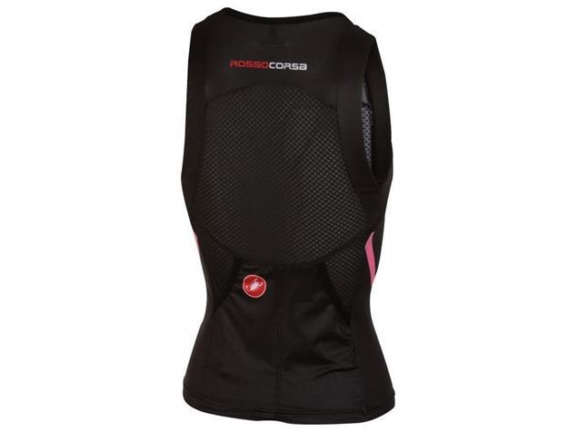 Castelli Free Women Tri Singlet - L black/pink fluo