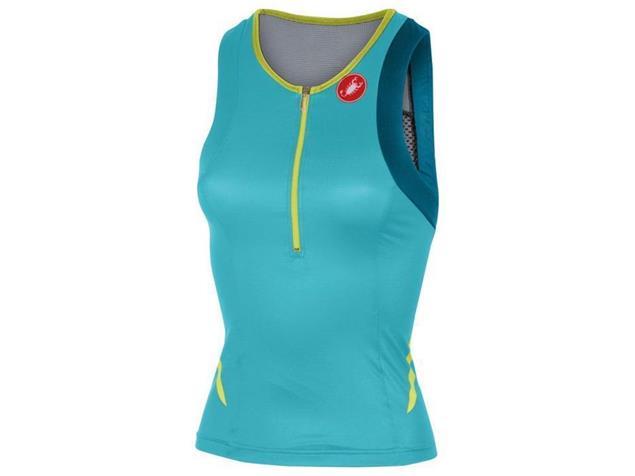 Castelli Free Women Tri Singlet - L pastel blue/caribbean