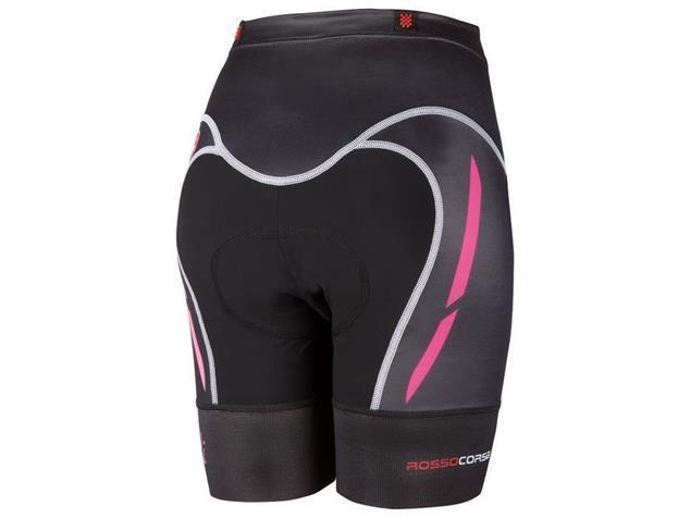 Castelli Free Women Tri Short - L black/pink fluo