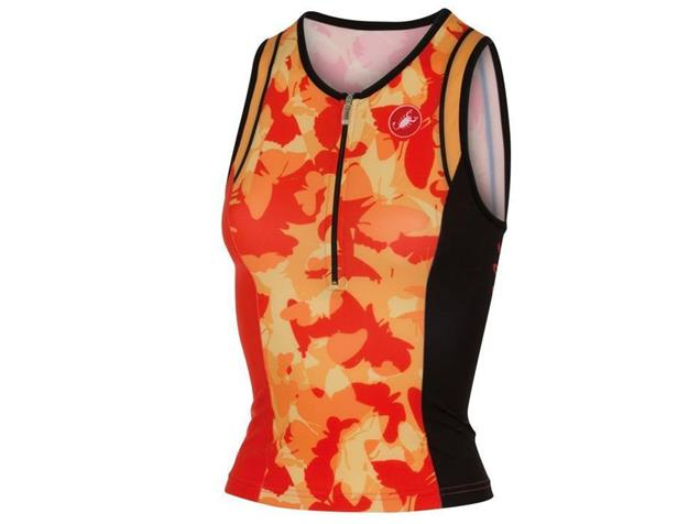 Castelli Core Women Tri Singlet - M coral/light orange