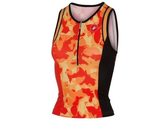 Castelli Core Women Tri Singlet - L coral/light orange