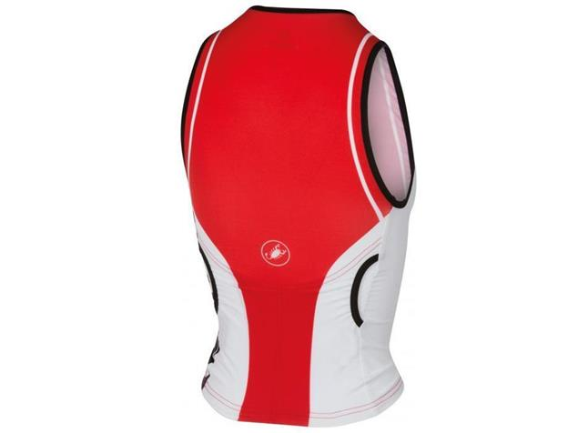 Castelli Core Women Tri Singlet - XS red/white