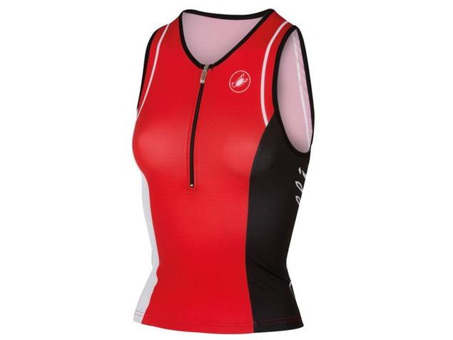 Castelli Core Women Tri Singlet - XL red/white