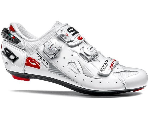 SIDI Ergo 4 Carbon Vernice Rennrad Schuh - 46 weiss/weiss