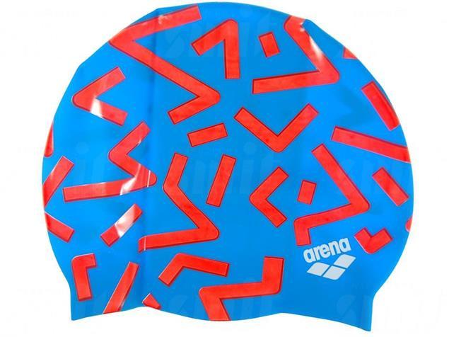 Arena Print 2 Badekappe Grafico - grafico-turquoise