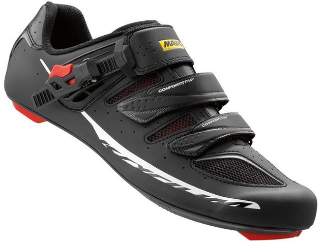 Mavic Ksyrium Elite II Rennrad Schuh - 47 1/3 black/red