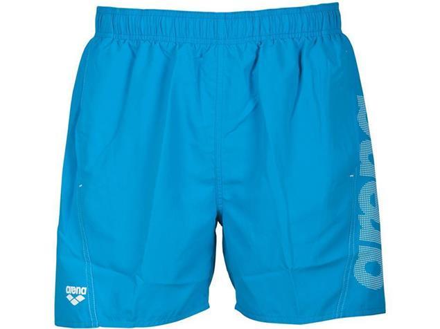 Arena Fundamentals Logo Boxer Watershort - S turquoise/white