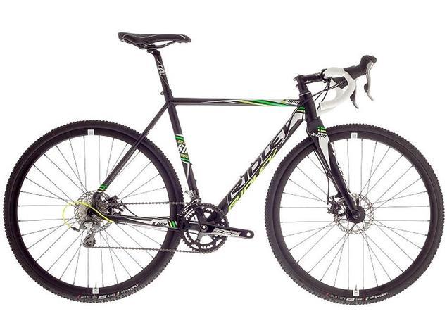 Ridley X-Ride Disc 20 XRI-01-BM Cyclocrossrad - 45 matte black/white/green