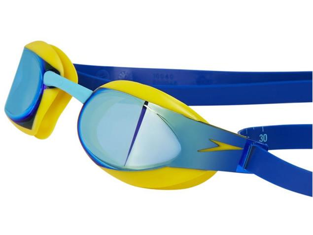 Speedo Fastskin Elite Mirror Junior Schwimmbrille empire yellow/blue