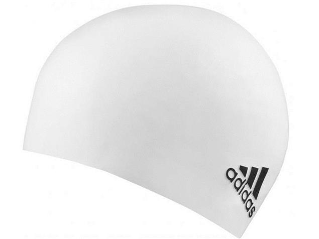 Adidas Logo Silikon Badekappe - white/black